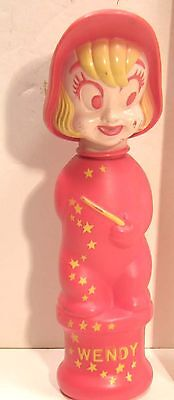 Vintage Soaky Bubble Bath Figural Bottle Wendy Witch From Casper Ghost Cartoons