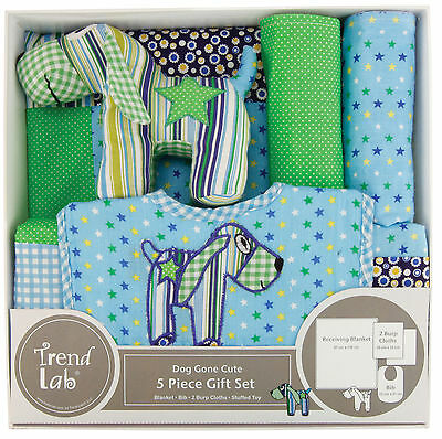 Trend Lab 5 Piece Gift Set - Dog Gone Cute
