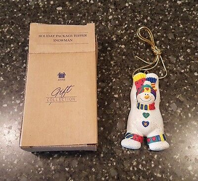 Avon Gift Collection Holiday Package Topper Christmas Ornament NIB
