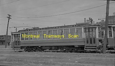 Montreal Tramways Commission Original B&w Trolley Negative Of Car 1214 In 1948
