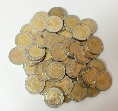 Thailand 10 Baht Lot 50 Coins Heavy Circulated See Scan