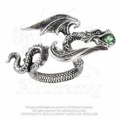 Fierce Gothic Dragon Ring - Alchemy Gothic Starchaser adj. sz 6 - 7 Dragon Ring