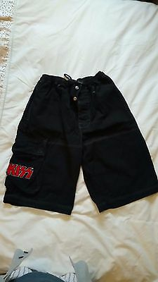 "Kiss Cargo Shorts, Officially Licensed, Xl Uk 36"" Waist"