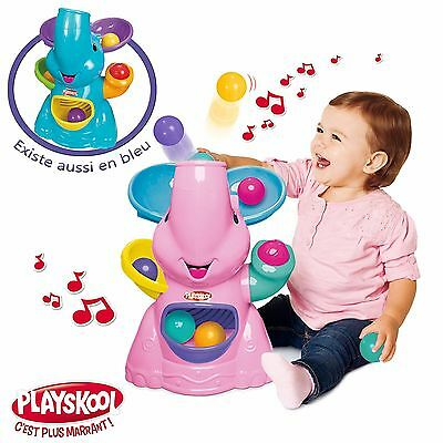 PLAYSKOOL - Battery Operated PINK ELEPHANT BUSY BALL POPPER Baby Toy Age 9m+