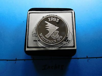 Acc-1 Delivery B-2 Stealth Bomber 1993 Afb Whiteman 999 Silver Coin Box Coa 1296