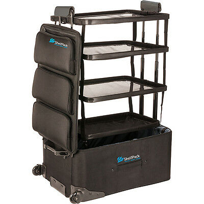 """ShelfPack 28"""" Rolling Luggage with Built-In Shelves Softside Checked NEW"""