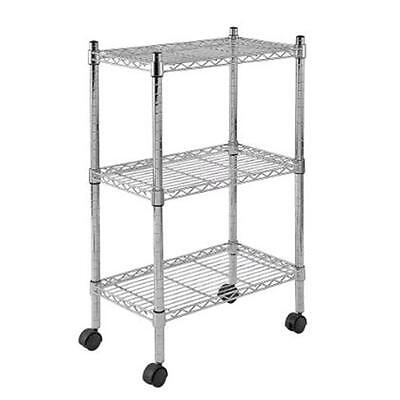 Sandusky 22 in. W x 33 in. H x 13 in. D Chrome Wire Commercial Shelving Unit