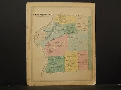 Connecticut Hartford County Map 1869, Town of East Hartford !O4#69