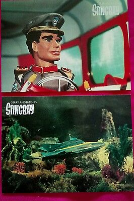 Gerry Anderson Stingray 6 Engale Postcards Very Good Clean Unhandled Condition