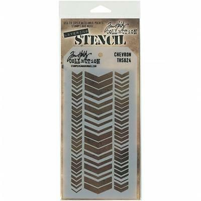Tim Holtz Layered Stencil 4.125''X8.5''-Chevron
