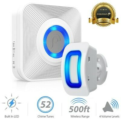 Fosmon 500ft Home Security Wireless Driveway Alarm Doorbell Garage Motion Sensor
