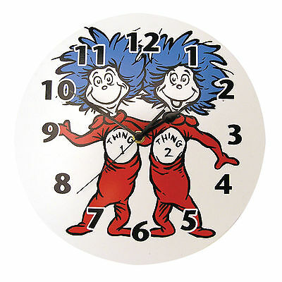 Trend Lab Wall Clock - Dr. Seuss Thing 1 And Thing 2