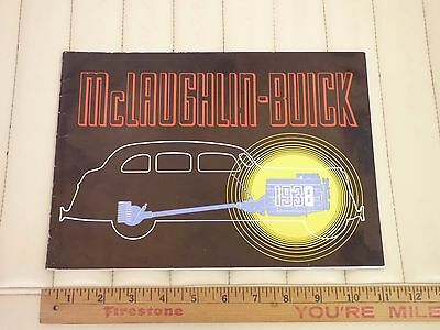 1938 MCLAUGHLIN BUICK Prestige Car Sales Brochure CDN RARE