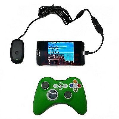 Micro USB Xbox 360 Controller Wireless Receiver Adapter for Android OS Emulators