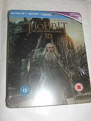 The Hobbit: The Desolation Of Smaug 3D BLU RAY Steelbook NEW & SEALED