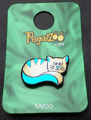 "PEGAZOO ""Myoo"" Cat Animal Pin - Custom Made in Canada from Real Maple Wood"