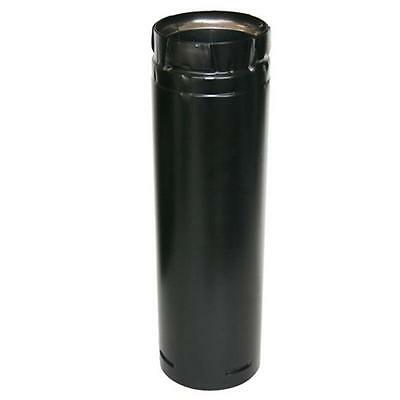 US Stove Duravent Duravent 3 x 36 in. Stainless Black Straight Chimney Pipe