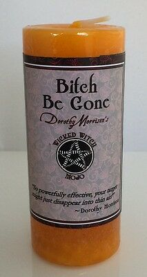 Bitch Be Gone Candle Coventry Creations Wicked Witch Mojo Magick Wicca Pillar