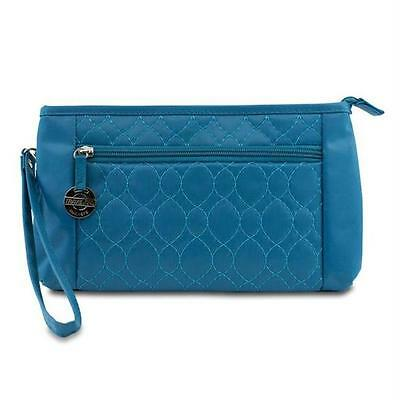 282251 Convertible Quilted Crossbody Wristlet & Waist Pouch -Teal
