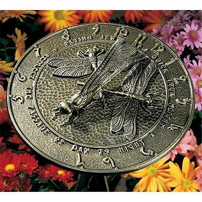 Whitehall Products 00691 Dragonfly Sundial French Bronze