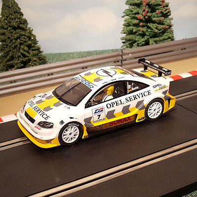 Scalextric 1:32 Car - White DTM Opel V8 Coupe #7 *LIGHTS* #M