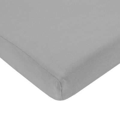 TL Care 100% Cotton Value Jersey Knit Fitted Portable/Mini-Crib Sheet, Gray New