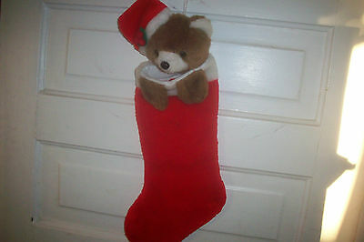 Adorable Baby Bear Ganz 1992 Christmas Stocking Super Cute  20 in