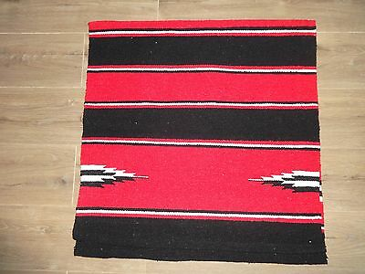 "NEW WESTERN SADDLE CLOTH HEAVY WOVEN FABRIC VARIOUS COLOURS APPROX 30"" x 60"""