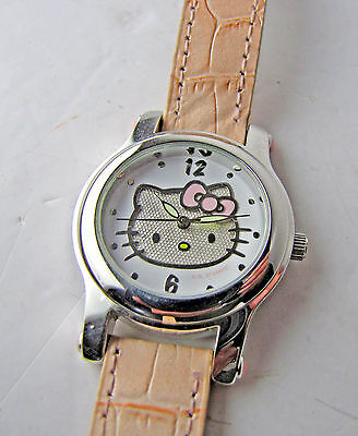 Vintage Sanrio Hello Kitty Watch Pink Leather Band