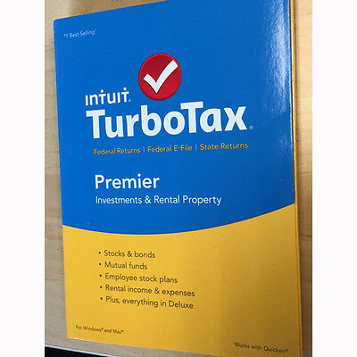 TurboTax Premier 2015 Federal + State Taxes + Fed Efile Tax Preparation Software