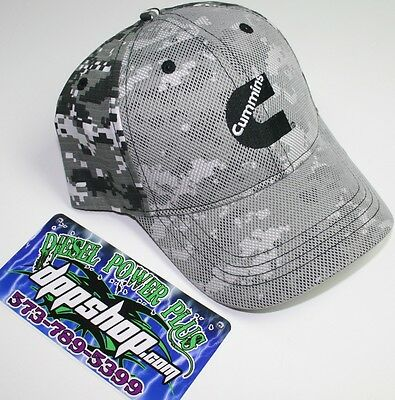 Digital Camo Dodge Cummins hat ball cap trucker mesh overlay snap back  cummings 5a3f9c310592