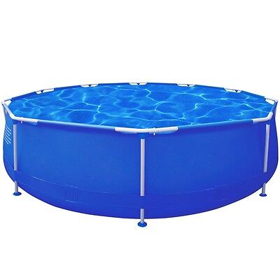12ft 360cm Above Ground Swimming Pool Filter Pump Round Inflatable Metal Frame