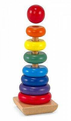 Pegging Game Wood Plug-in Tower Rainbow Stacking Tower