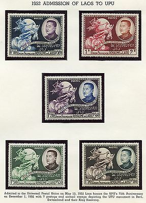 Laos Lot I Mint Never Hinged Stamps Foreign Shipment Without Album Pages