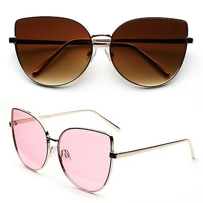 Women's New Metal Cat Eye Shape Designer Sunglasses