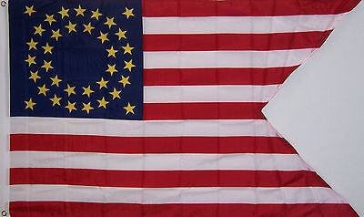 35 STAR 7TH CAVALRY GUIDON FLAG NEW 3x5ft