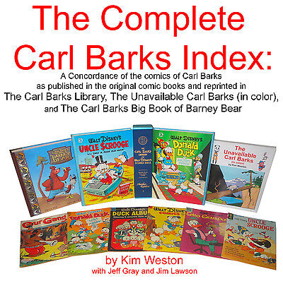The Complete Carl Barks Index: A  Concordance of the Comics of  Carl Barks