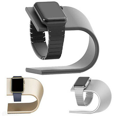 US Aluminum Charging Dock Station Charger Holder Cradle Stand For Apple Watch