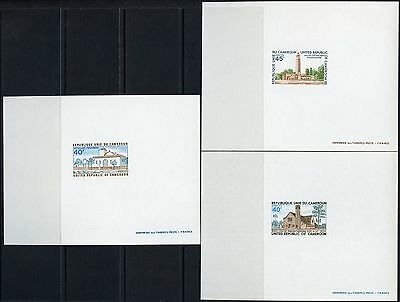 Cameroon Churches Etc Group Of 3   Deluxe Souvenir Sheets As Issued No Gum