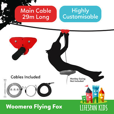 Flying Fox ZIP LINE WIRE 29m Outdoor Play Equipment Playground