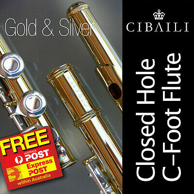 CIBAILI Silver-Plated Student C FLUTE • CHC 16 keys • New •  GREAT FOR SCHOOL! •