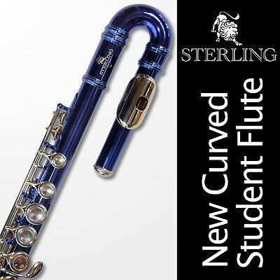 Silver STERLING Student C FLUTE • CHC 16 keys • New • SILVER-PLATED • GORGEOUS •