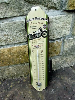 Harley-Davidson Knucklehead 1936 THERMOMETER - Licensed Product ! Sealed in Box