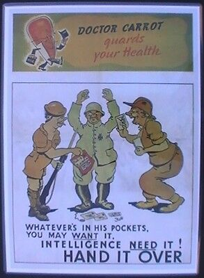 WAR DOCTOR CARROT Advertising  Print Captured GERMAN Soldier BRITISH AUSTRALIAN