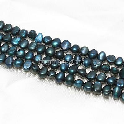 DIY Jewelry Blue Keishi Cultured Freshwater Pearl Beads 8-9mm 15.5 Inch