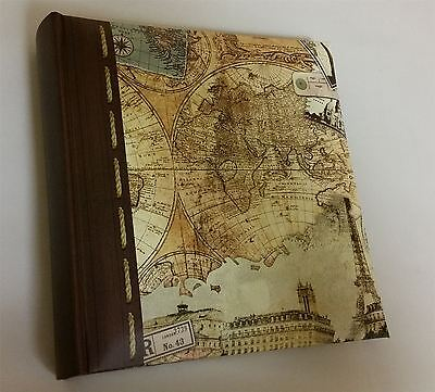 "Kenro Old World Map Travel Photo Album for 200 Photos 6"" x 4"""