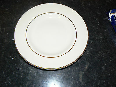 British Home Stores Sonata Cream & Gold 7 Inch Side Cake   Plates 7 Available