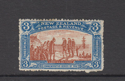 NZ 1906 3d CHRISTCHURCH EXHIBITION SG372 cat £55+ LHM Creased back- fresh front