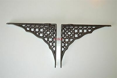 Pair of Gothic Revival cast iron shelf brackets wall bracket shelving AL32