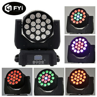 19x10W RGBW 4in1 LED Beams Moving Head Stage Wash Lights Party Show Lighting New